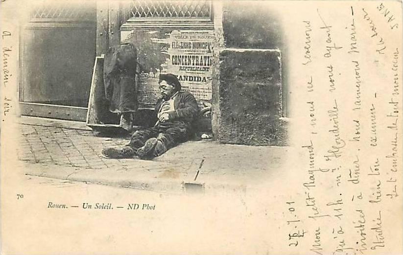 Carte Postale Ancienne - Rouen (Seine-Inférieure) - Un Soleil