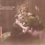 Carte Postale Ancienne - Saint-Valentin - série Intimité