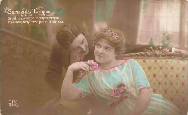 Carte Postale Ancienne - Saint-Valentin - série Serments d Amour n°255/2 - éditeur DIX