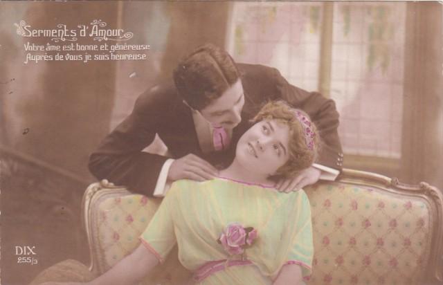 Carte Postale Ancienne - Saint-Valentin - série Serments d Amour n°255/3 - éditeur DIX