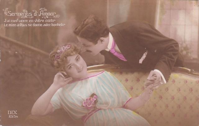 Carte Postale Ancienne - Saint-Valentin - série Serments d Amour n°255/4 - éditeur DIX