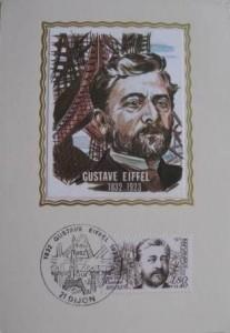 Carte Postale - Gustave EIFFEL - carré de soie