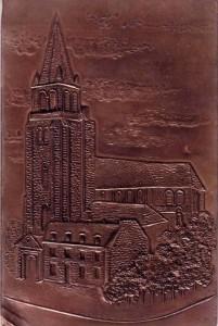Carte Postale en métal - Paris, église Saint-Germain-des-Prés