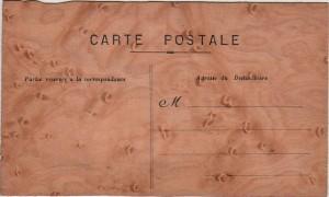 Carte Postale Ancienne en bois - M. Lépine - verso