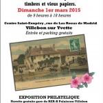 Villebon-sur-Yvette Essonne 91 - Cartophila - 35e bourse aux cartes postales - 1er mars 2015