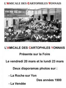 L'Amicale des Cartophiles Yonnais à la Foirexpo Place aux jeux - 20 & 23/03/2015 - La Roche-sur-Yon (85)